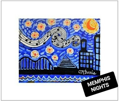 Memphis Nights Matted Print 14x18
