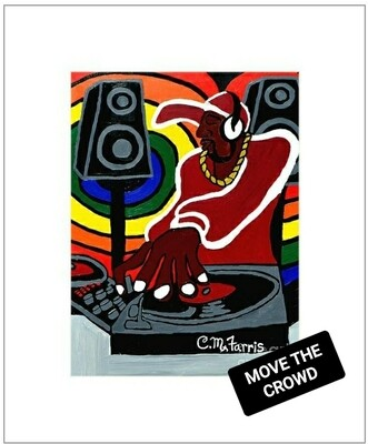 Move The Crowd Matted Print 14x18