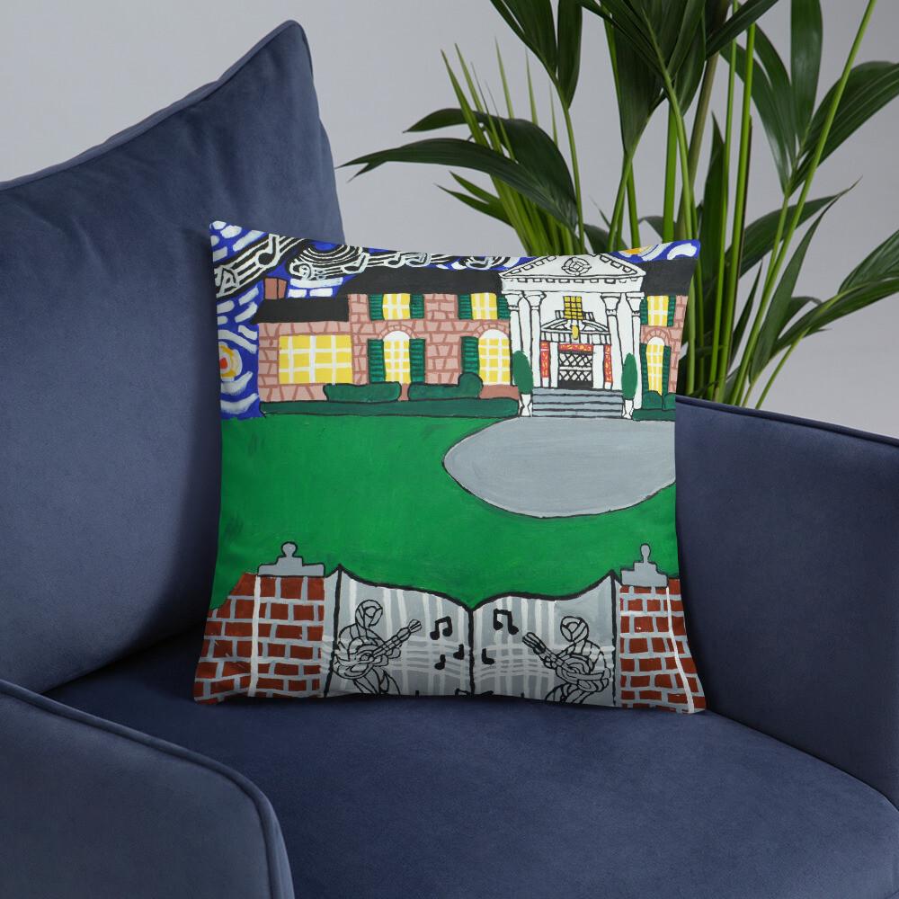Memphis Nights over Graceland Basic Pillow