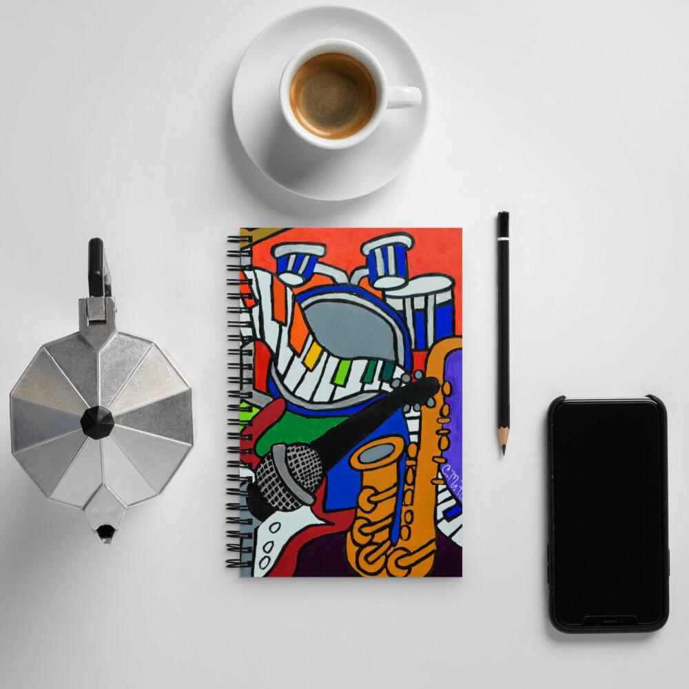 Music Vibes Spiral notebook