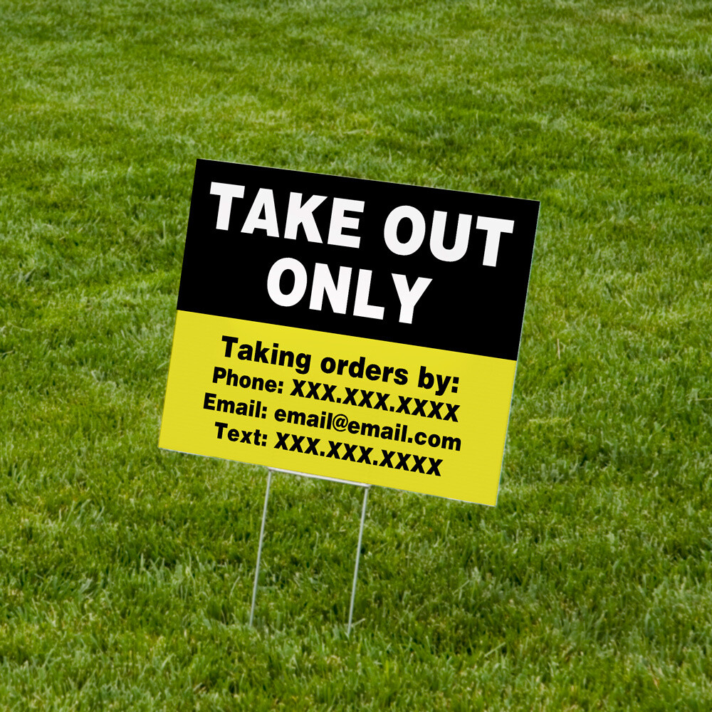 "Lawn Signs 18"" x 24"" Corrugated Plastic - 10 Pack"