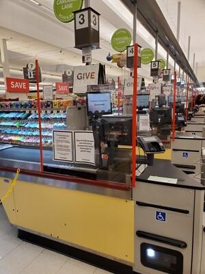 """1/4"""" Polycarbonate Cash Register Shields"""