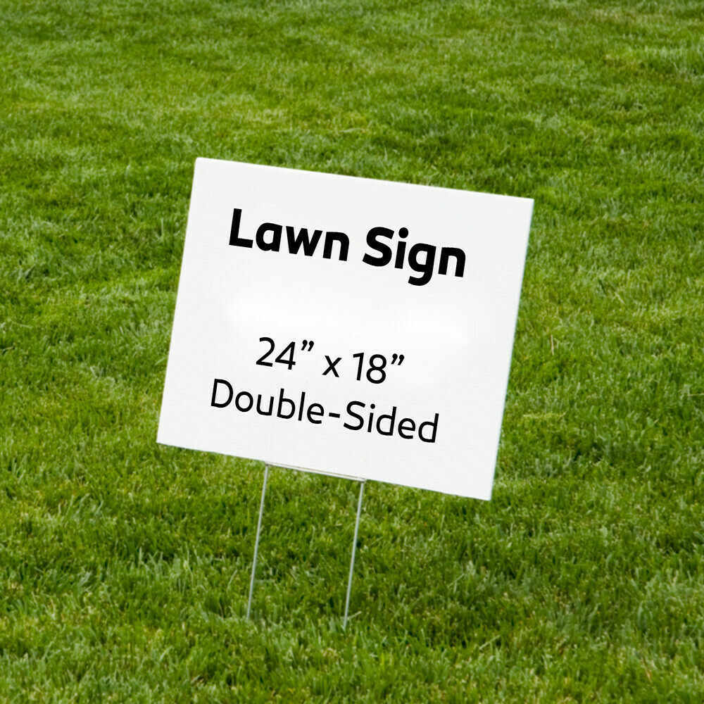 "18""x24"" Custom Double-sided Graduation Lawn Signs (Call 1-860-SIGNPRO for Pricing)"