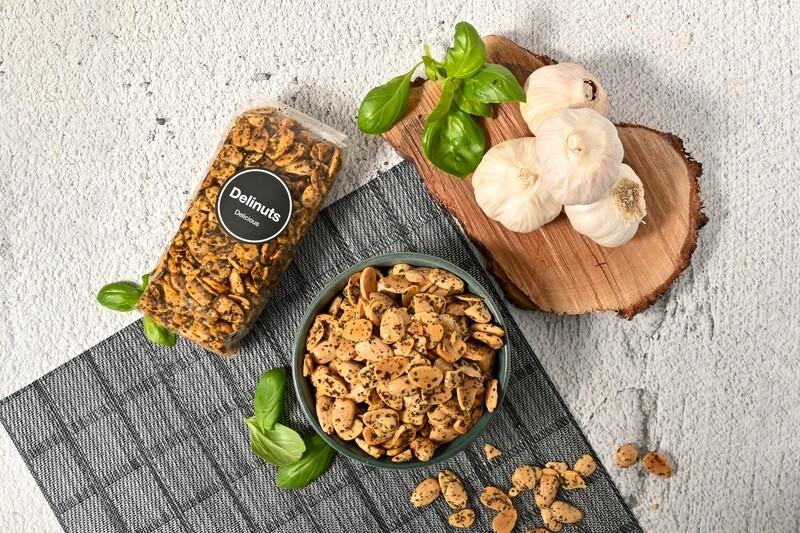 Basil & Garlic Almonds