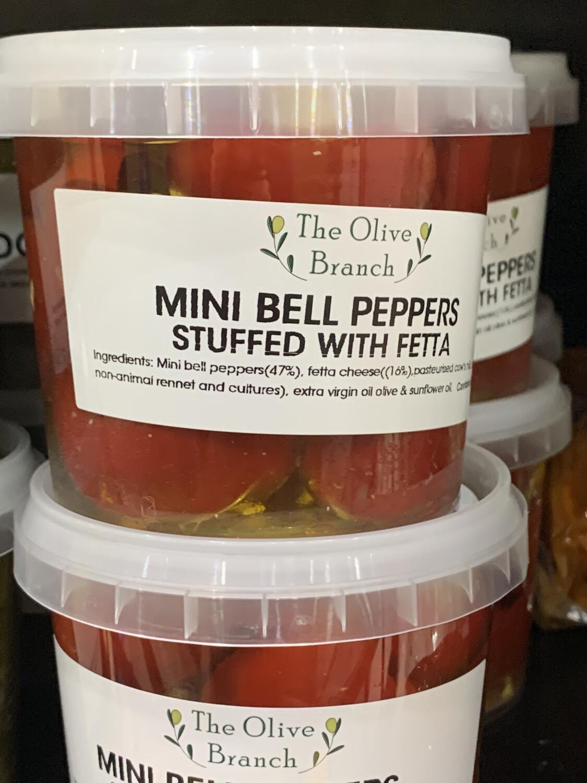 Mini Bell Peppers Stuffed With Feta