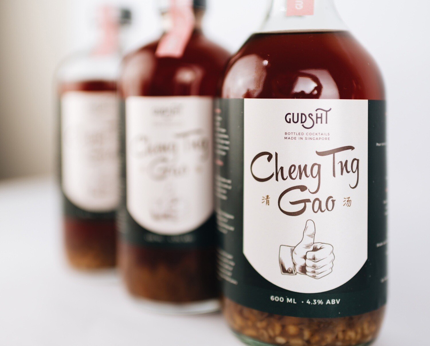 Cheng Tng Gao Bottled Cocktail by The Refinery x Gudsht