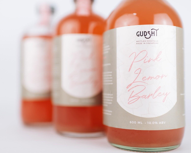 Pink Lemon Barley Bottled Cocktail by The Refinery x Gudsht