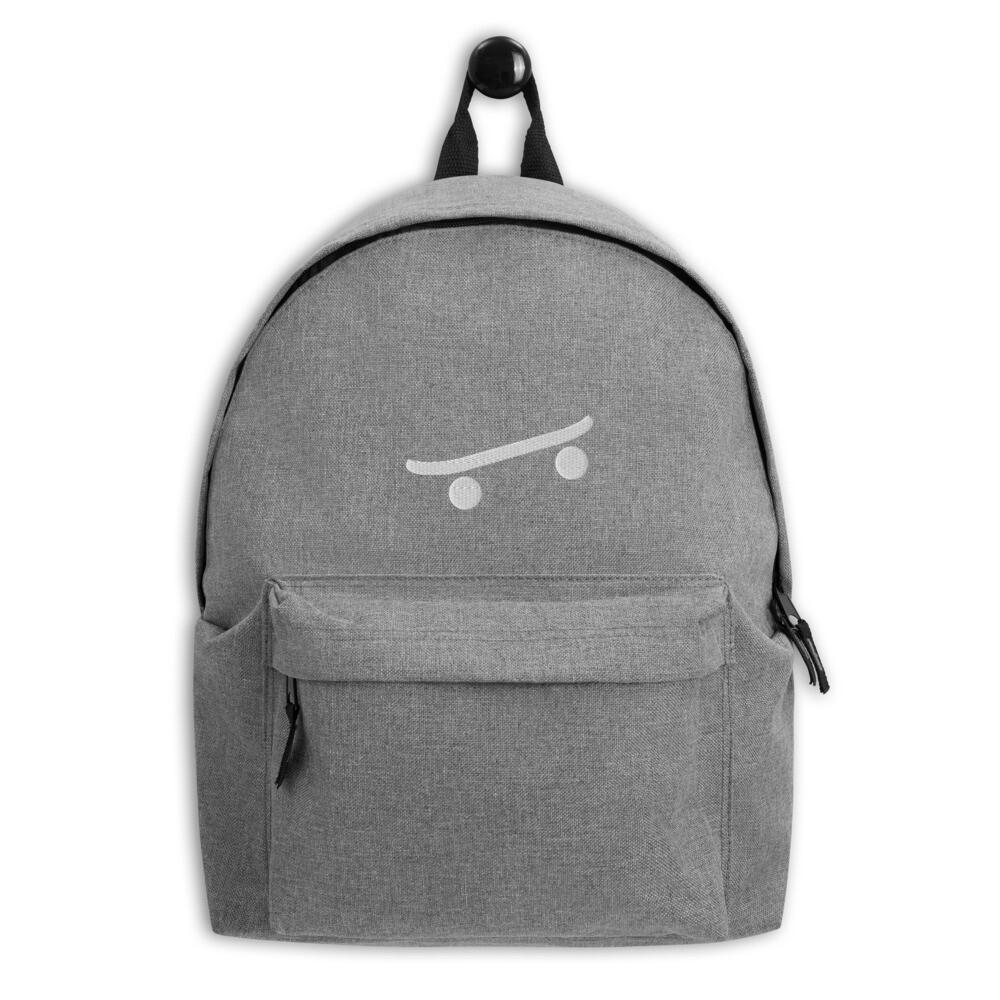 """Embroidered Backpack """"Skateboard"""""""