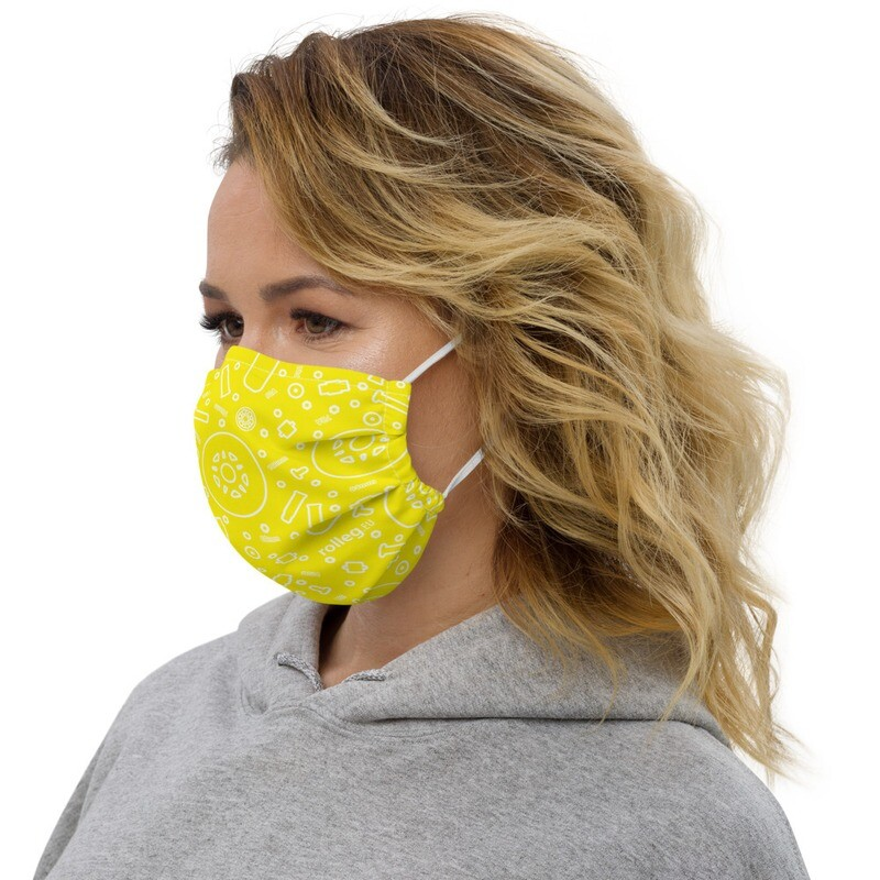rolleg.eu Premium Face Mask (Yellow)