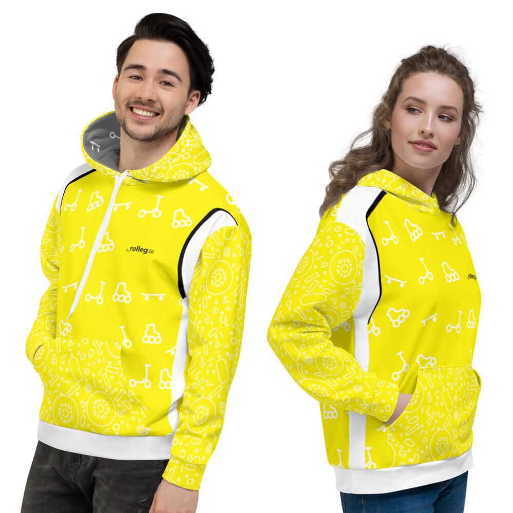 "Unisex ""rolleg.eu Lifestyle"" Yellow Hoodie"