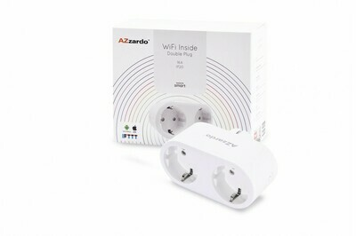 WTYCZKA WIFI INSIDE DOUBLE PLUG 16A AZZARDO SMART