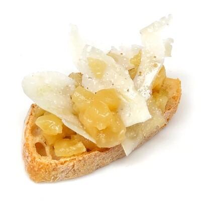 Crostino mostarda e Asiago