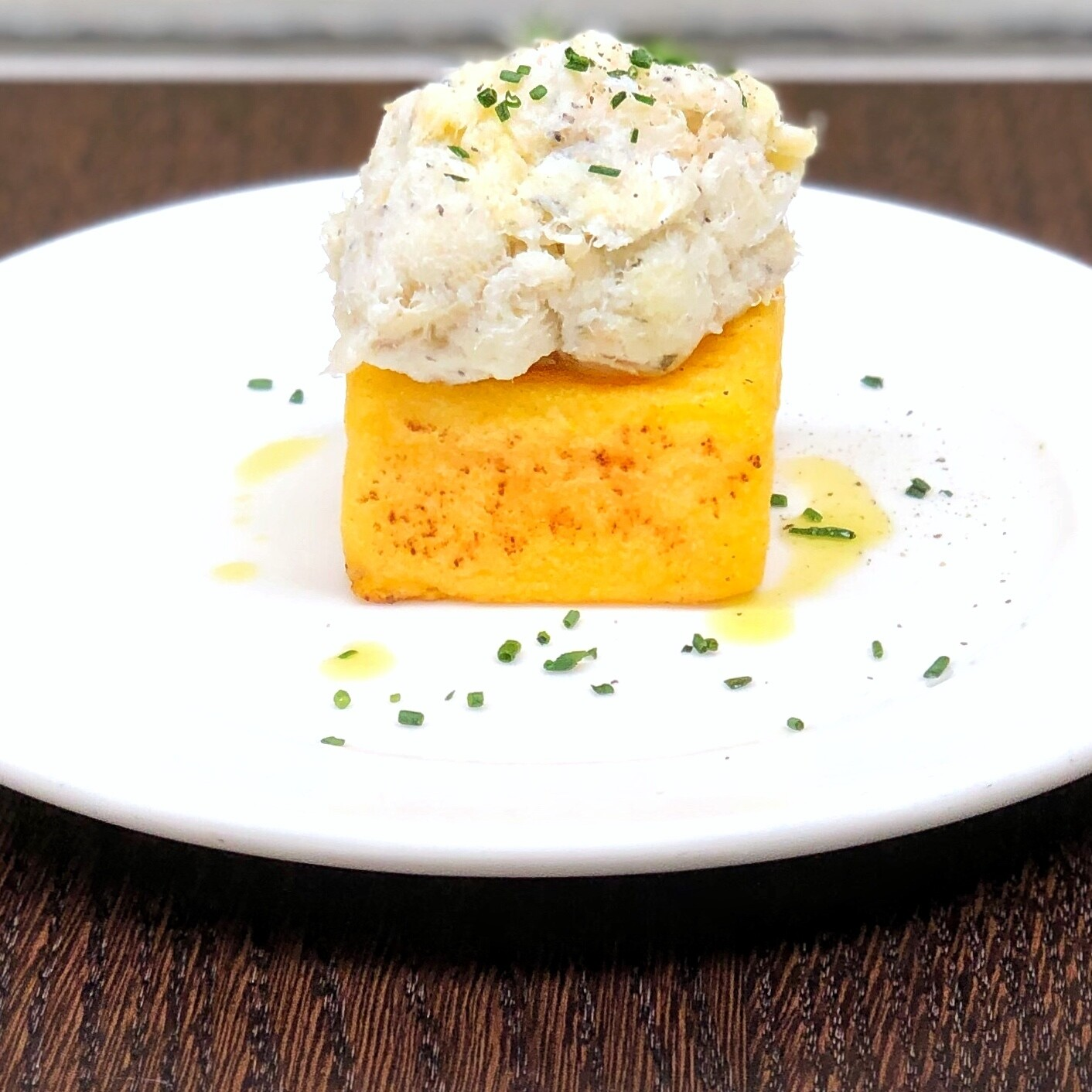 Bacalà mantecato e polenta zala