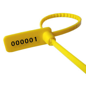 Plastic Security Seal Pull Tight Small Security Tag Plastic Grip Seal 5000 PCS Yellow Color