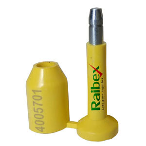 RAIBEX Container Seal OTL Container Security Seal ONE TIME Lock Container Bolt Seal - Tamper Seal 1000 PCS (Yellow Color)