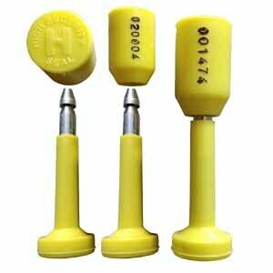 RAIBEX Container Seal OTL Container Security Seal One Time Lock Container Bolt Seal Tamper Seal 1000 PCS (Yellow Color)