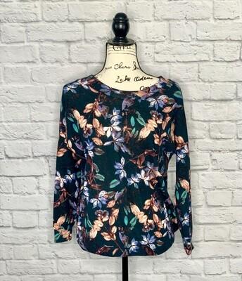 Floral Cross Back Sweatshirt