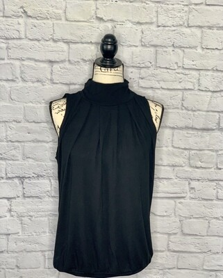 High Neck Pleated