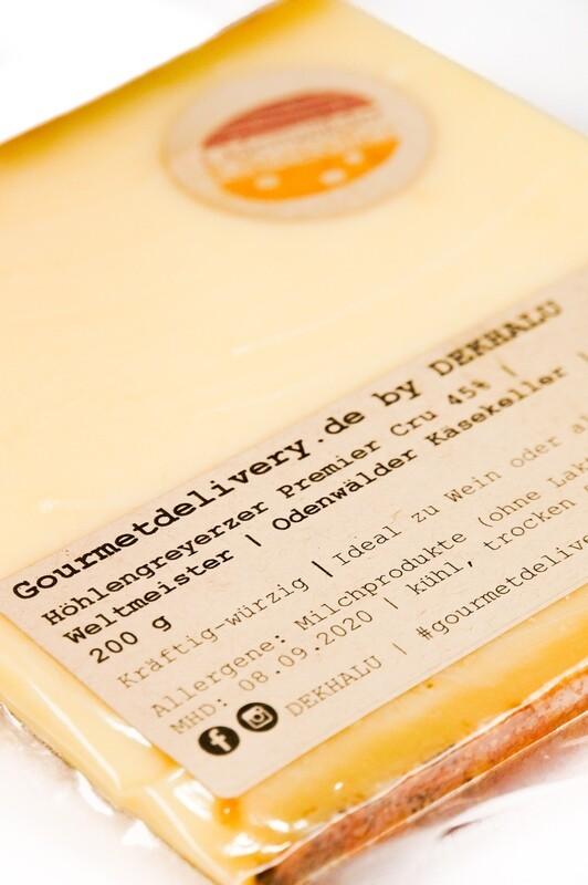 Höhlengreyerzer Premier Cru 45%   Weltmeister   Odenwälder Käsekeller   200 g