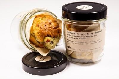 herzhafter Muffin mit mediterranem Gemüse