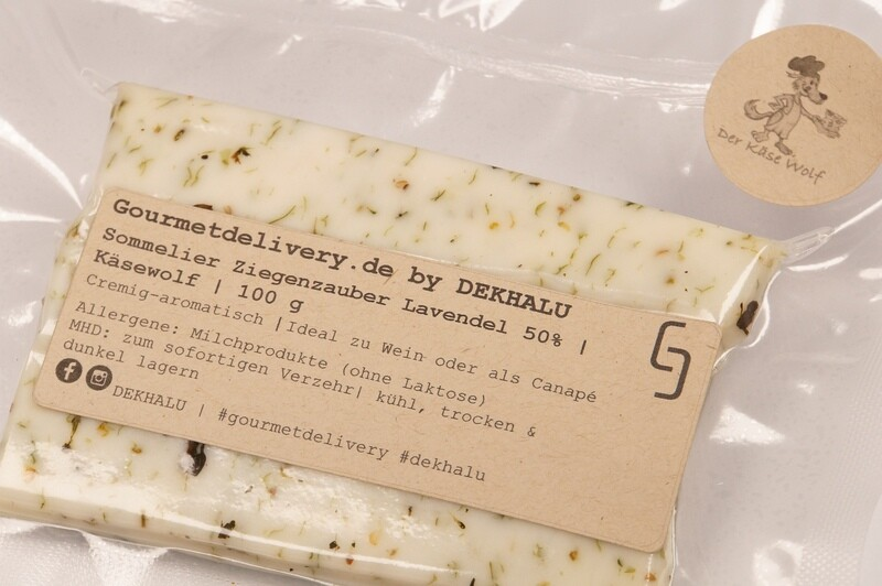 Sommelier Ziegenzauber Lavendel 50% | Käsewolf | 100 g