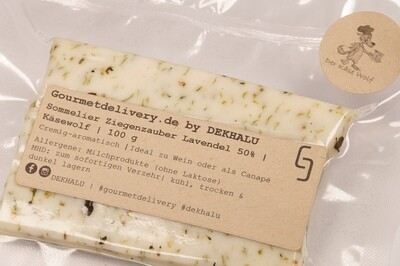 Sommelier Ziegenzauber Lavendel 50%   Käsewolf   100 g