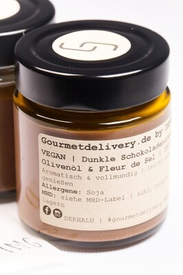 Schokocreme mit Olivenöl & Fleur de Sel | vegan | 167 ml Glas