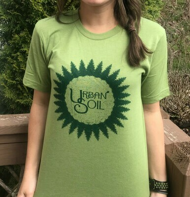 Green on Leaf Green Logo T Shirt