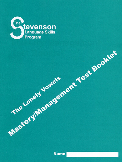 Lonely Vowels Mastery – Management Test Booklet (single)