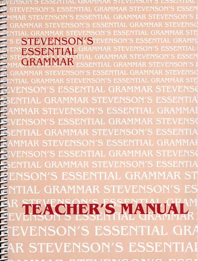 Stevenson's Essential Grammar Teacher's Manual