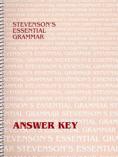 Stevenson's Essential Grammar Answer Key