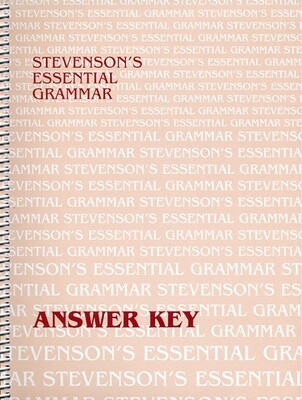 Stevenson's Essential Grammar Answer Key