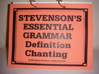 Peach Grammar Level Definition Chanting Flip Chart