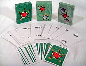 Green Level Word Suits Playing Cards (set of 3 decks)
