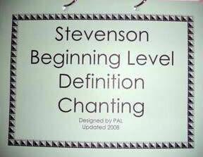 Green Beginning Level Definition Chanting Flip Chart
