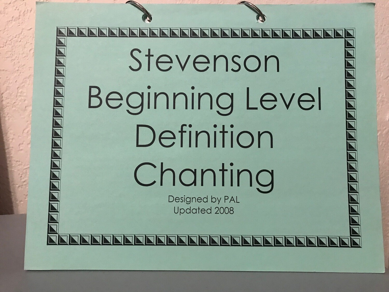 Blue Basic Level Definition Chanting Flip Chart