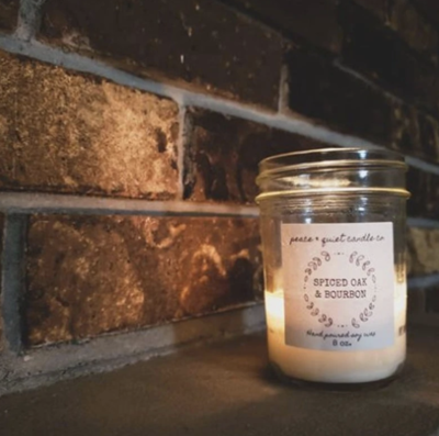 Peace and Quiet Candle Co Holiday Candles