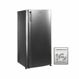 LG One Door Refrigerator, PLATINUM SILVER 7.5 CUFT D