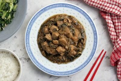 Pork & Preserved Vegetable   梅菜炆豬肉  Net Weight: 500g