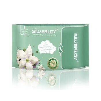 Silverloy Anti-Bacterial Sanitary Pad Night Use