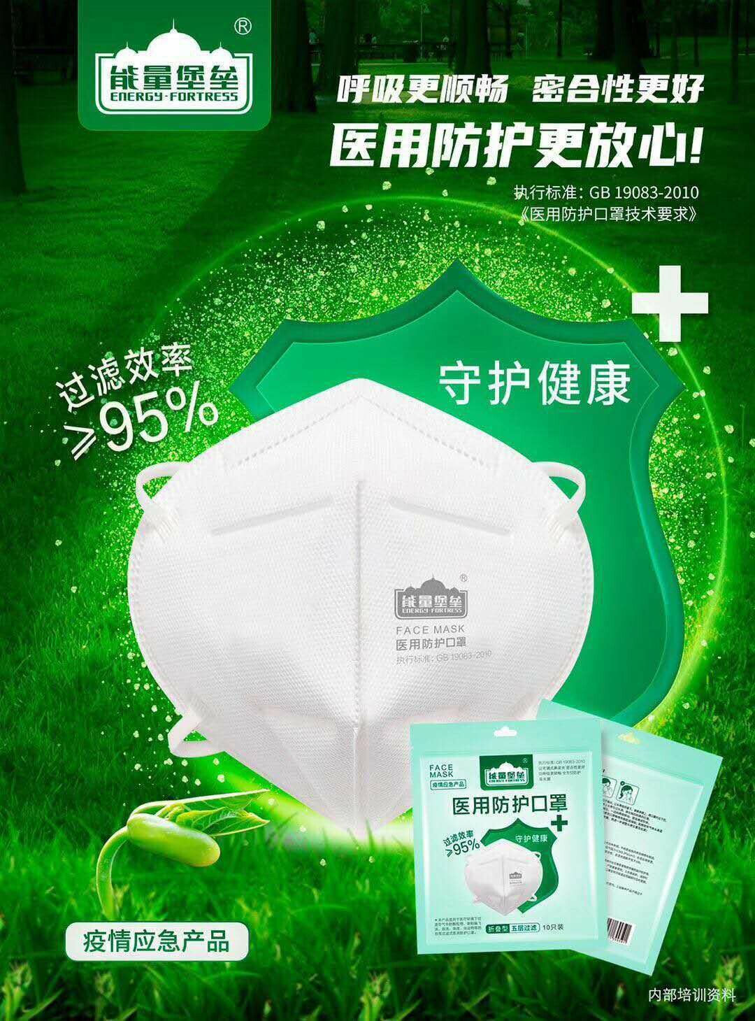 Energy Fortress Medical Face Mask