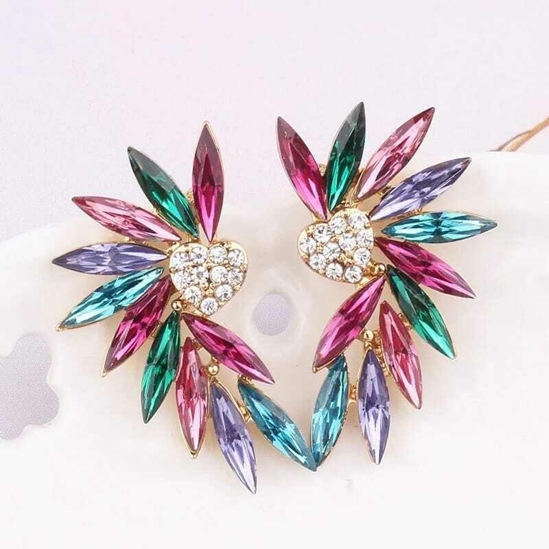 Boucles d'oreilles à design leaf