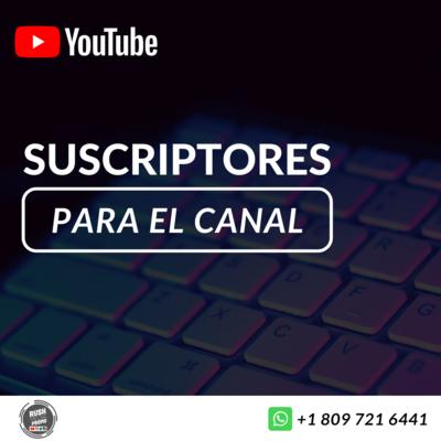 Suscriptores para youtube