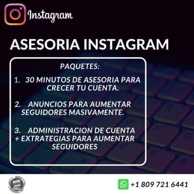 Asesoria para instagram crecimiento masivo