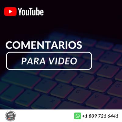 Comentarios para youtube