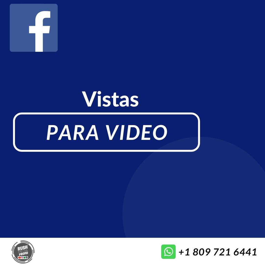 Vistas para Video Facebook
