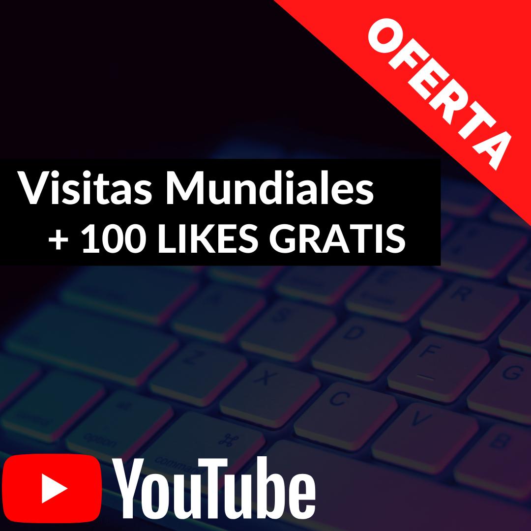 Comprar Visitas Para Youtube + 100 Likes Gratis