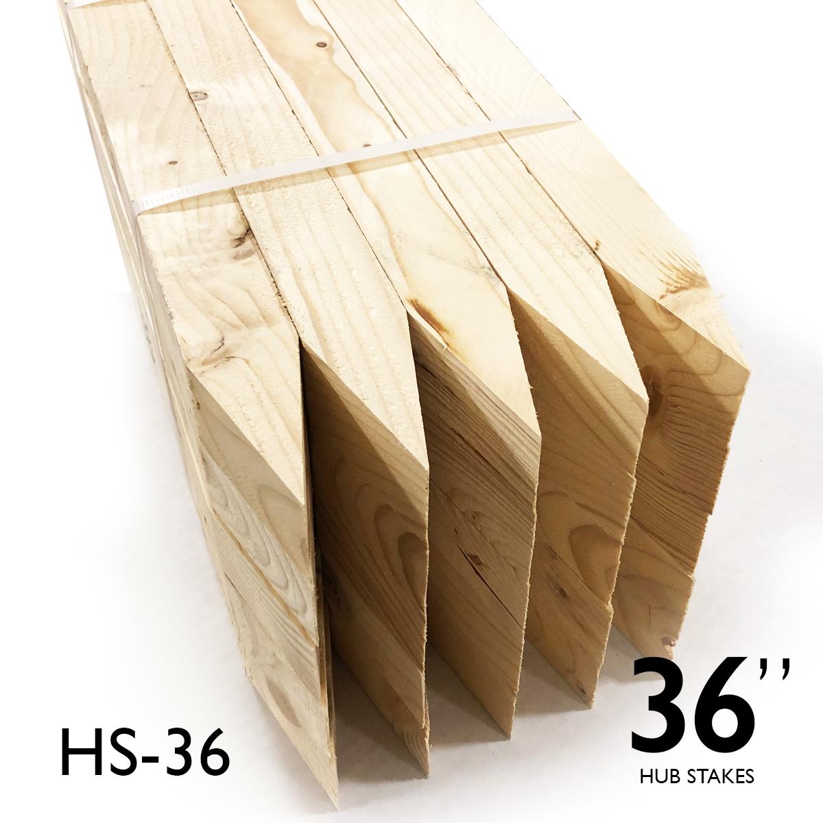 "Hub Stakes 2 X 2 X 36"" FULL Pallet"