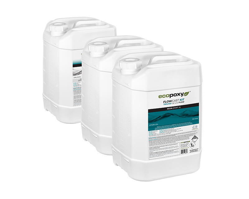 30 Liters FlowCast Epoxy by EcoPoxy