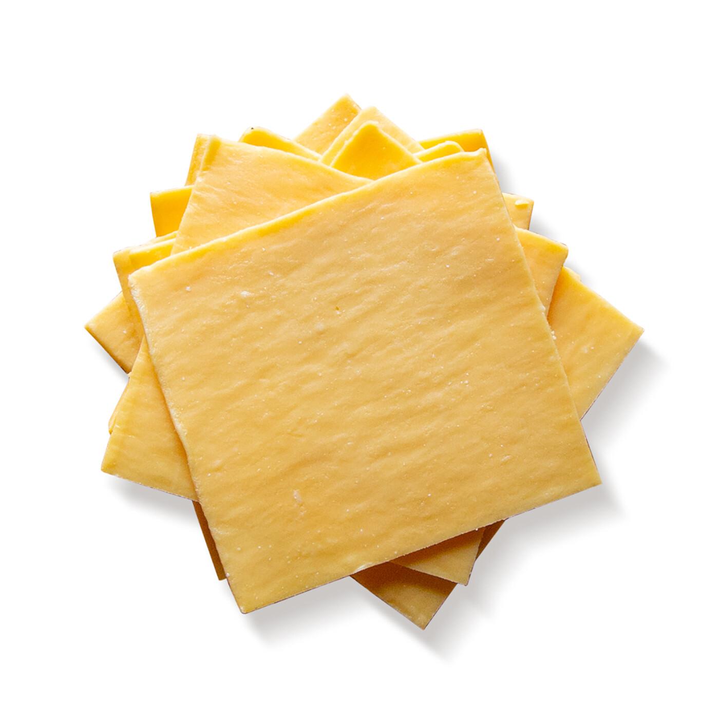 10 lascas de queso americano